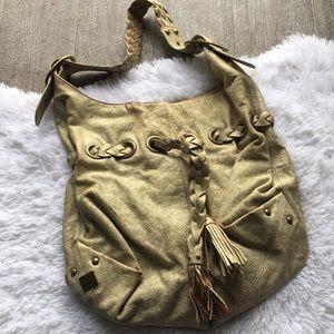 Metallic kooba hobo bag